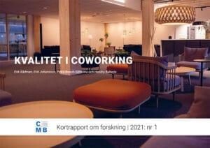 Bild på möbler i en coworkingmiljö